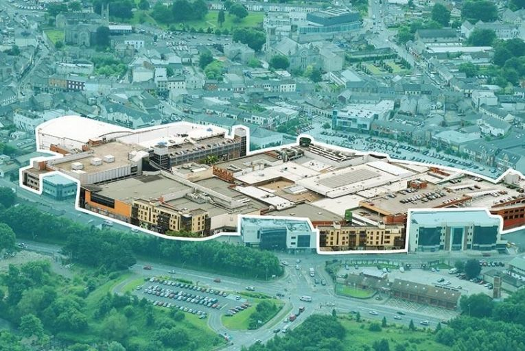 Navan Town Centre: part of the shopping centre is on the market