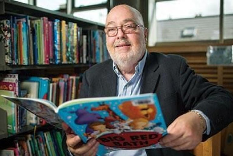 David Carey, spokesperson for the Bord Gáis Energy Little Readers campaign Picture: Fergal Phillips