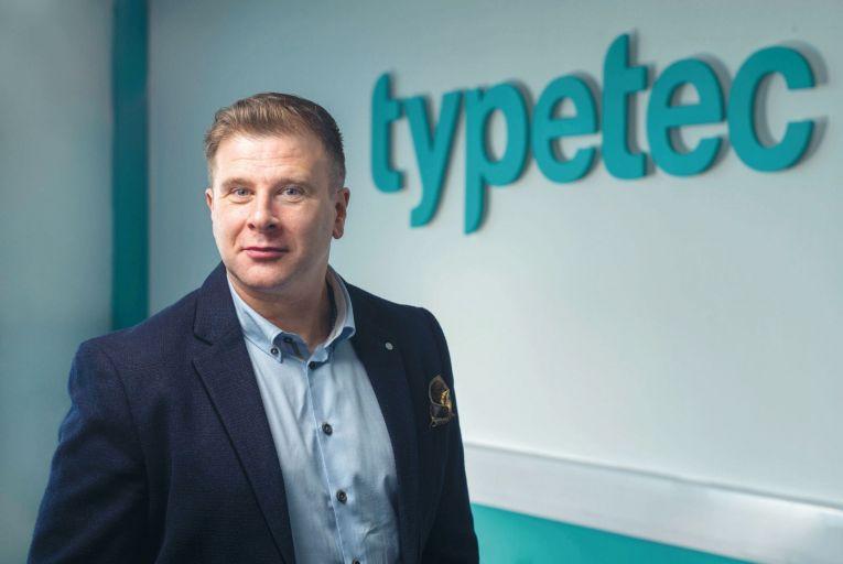 Finbarr O\'Riordan, sales director, Typetec