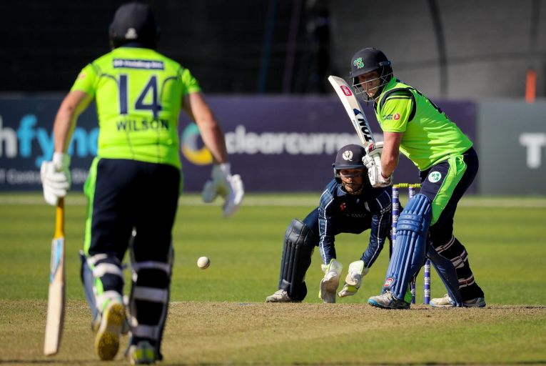 Ireland vs Scotland at Malahide Cricket Club grounds. Picture: Inpho