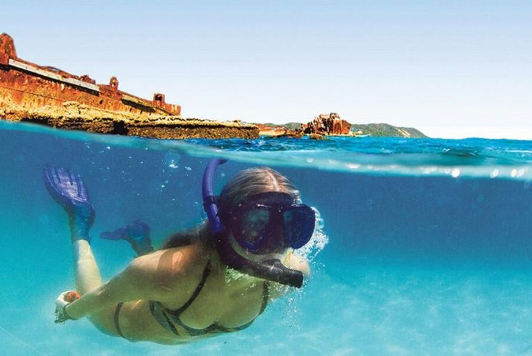 Snorkelling on Moreton Island  in the Sunshine State