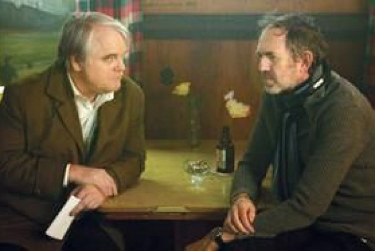 Philip Seymour Hoffman and Anton Corbijn on the set of A Most Wanted Man.