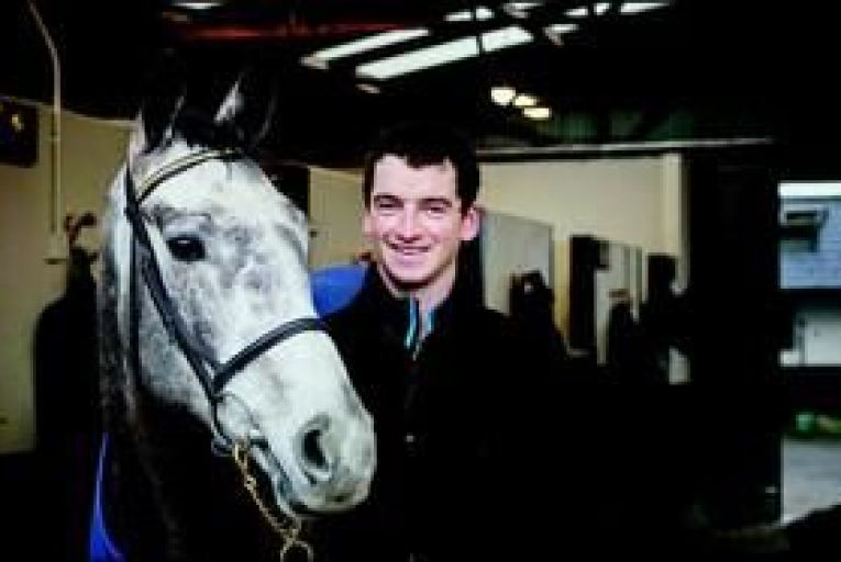 Patrick Mullins with Champagne Fever at the family stud farm in Co Carlow: \'You\'re only as good as the horses you ride.\' Photo: Dylan Vaughan