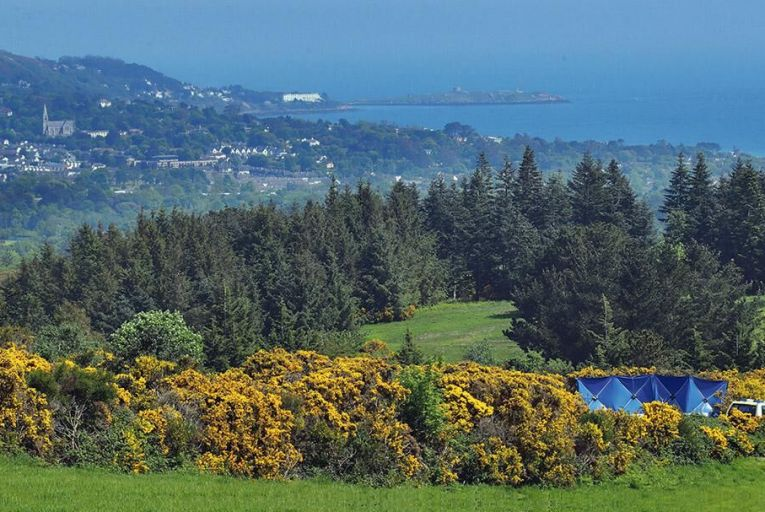 The scene where the body  of Jastine Valdez was  found earlier this week,  overlooking south Dublin Picture: Collins