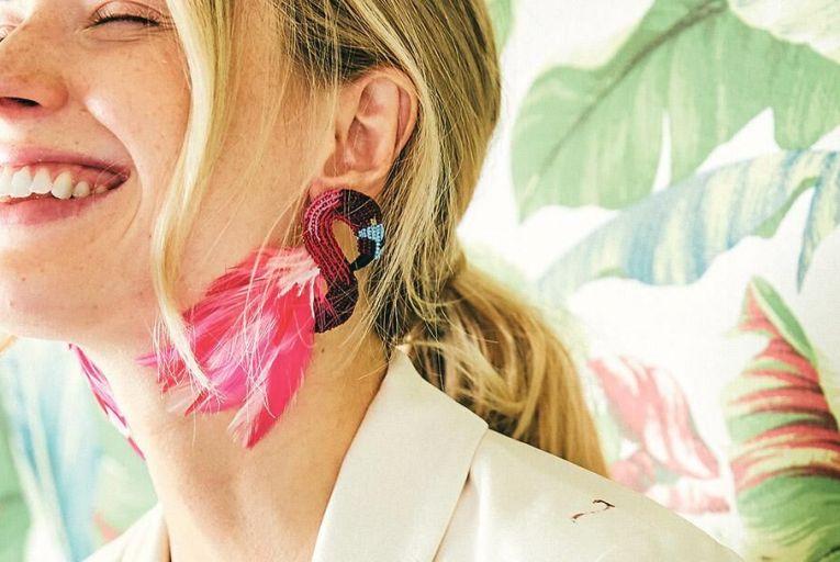 Flamingo stud earrings, €335