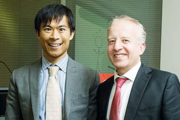 Alex Edmans, professor of finance at London Business School with John Ryan, chief executive of Great Place to Work