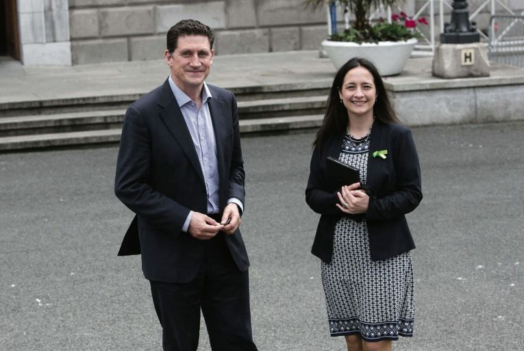 Green Party TD's Eamon Ryan & Catherine Martin. Picture: Collins
