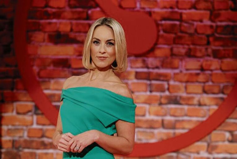 "Kathryn Thomas, standing in for Ryan Tubridy on The Tubridy Show during ""Twixtmas: that Bermuda Triangle of time between Christmas and New Year"""