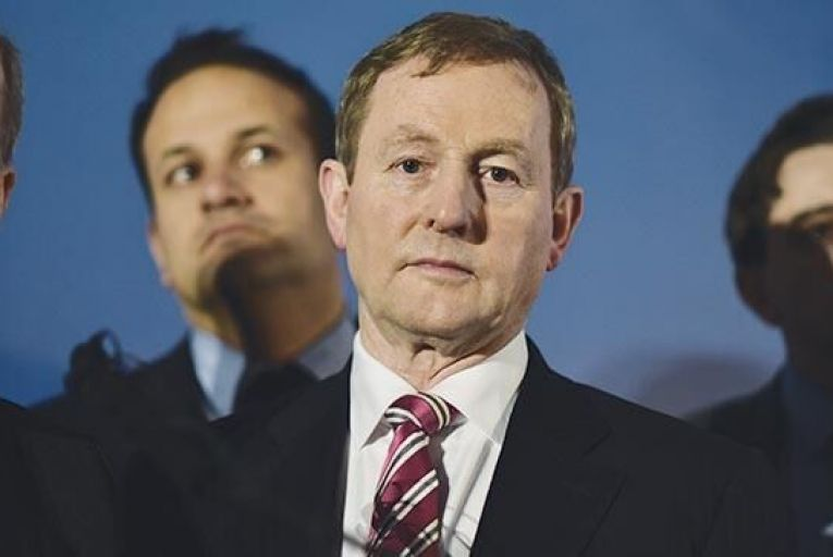 Kenny at official launch of Fine Gael's campaign last week Pic: Barry Cronin
