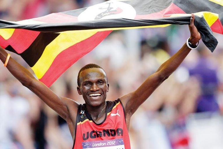 Stephen Kiprotich of Uganda, winner of the London 2012 marathon: a new app allows to runners measure themselves against his times and those of others