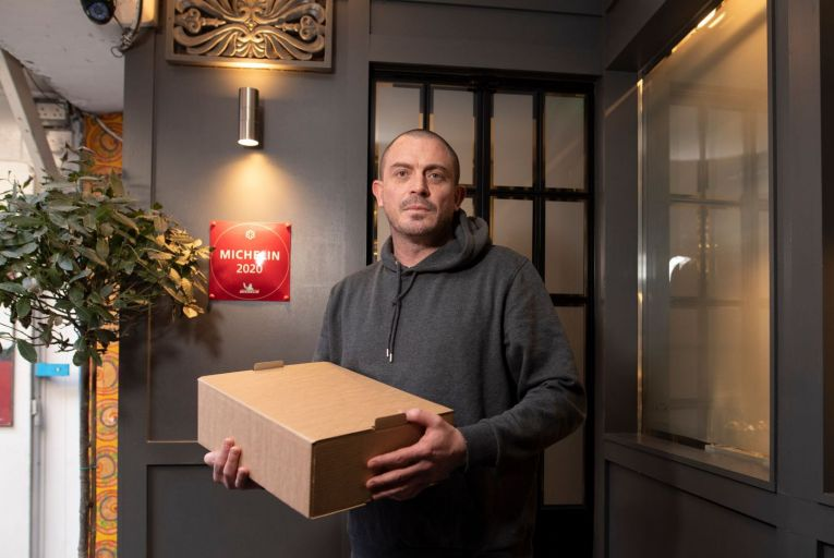 Damien Grey, chef proprietor of Liath restaurant in Blackrock, has taken a new approach to the lockdown dinner box. Picture: Fergal Phillips