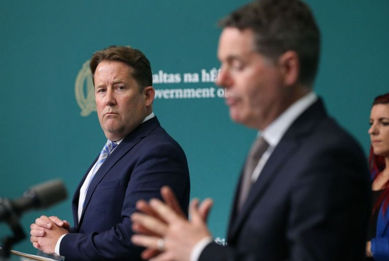 Darragh O'Brien, the Minister for Housing, and Paschal Donohoe, the Minister for Finance, announced the package of measures after their second cabinet meeting of the day. Picture: Rollingnews.ie