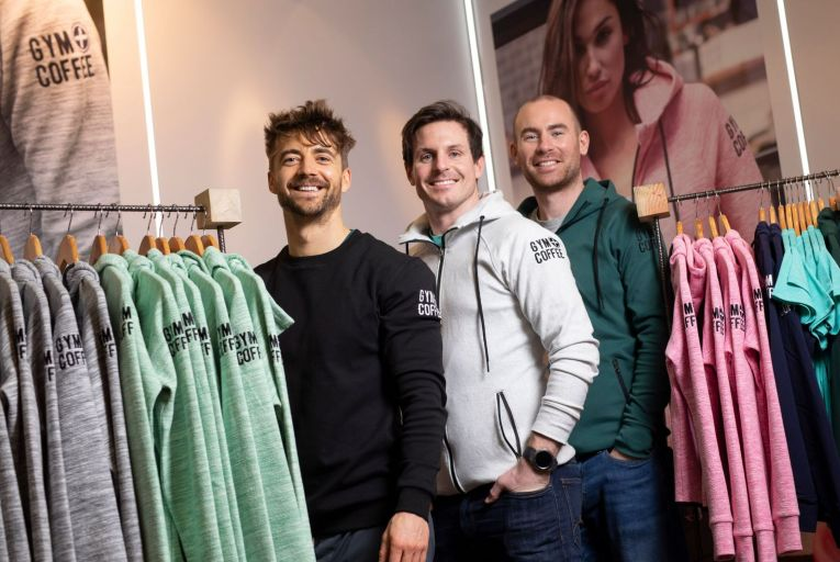 Karl Swaine, Niall Horgan and Diarmuid McSweeney, co-founders of Gym + Coffee. Picture: Fergal Phillips