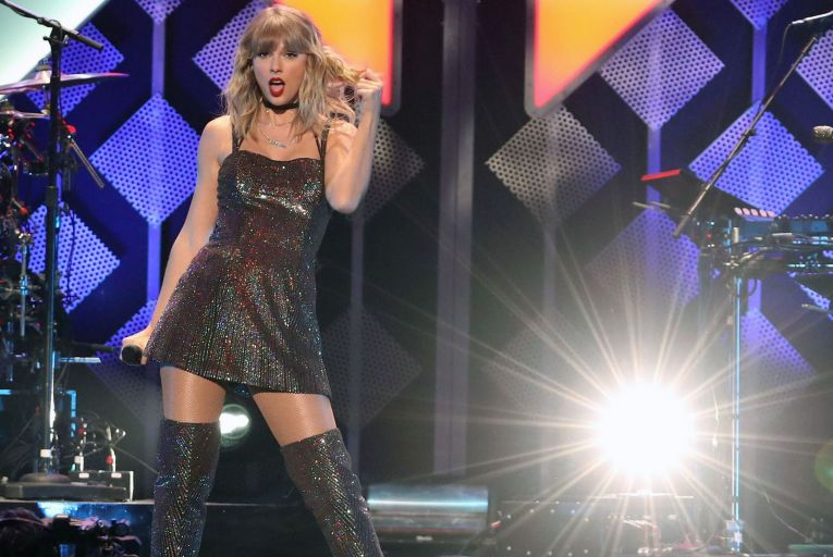 Taylor Swift's surprise album Folklore presented gentle ruminations on love, romance and inner searching that calmed anxious, self-quarantining sensibilities. Picture: Kevin Kane/WireImage