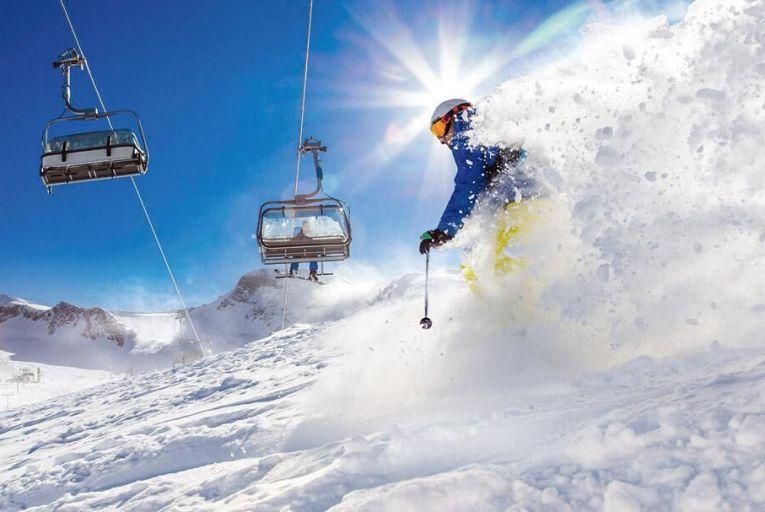 Skiing the Sellaronda, a 40km circular route