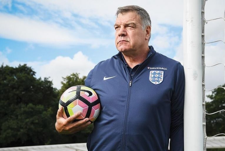 Blink and youll miss him:  Sam Allardyce oversees a  training session during his  brief time in charge of England Picture: Getty