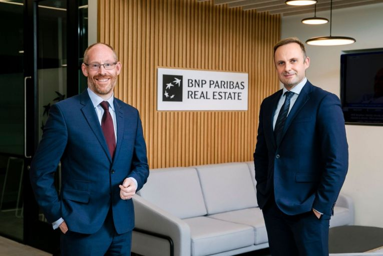 Dr John McCartney with Ken Rouse, the managing director of BNP Paribas Real Estate Ireland: McCartney is joining the commercial property firm as head of research. Picture: Fennell Photography