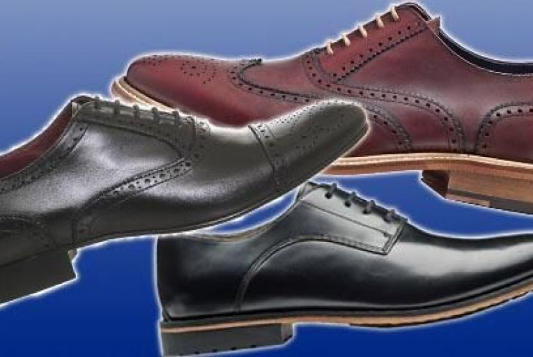 Pictured: Gatley Walk high-shine lace-up 150; Clarks, 13. Black wingtip 125, Office; Clarks, 13. Black wingtip 125, Office
