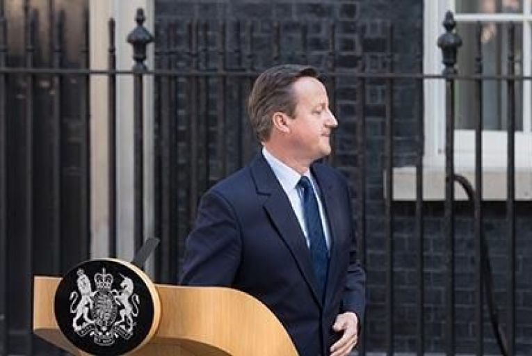 David Cameron after his press conference on Friday morning PIc: Getty