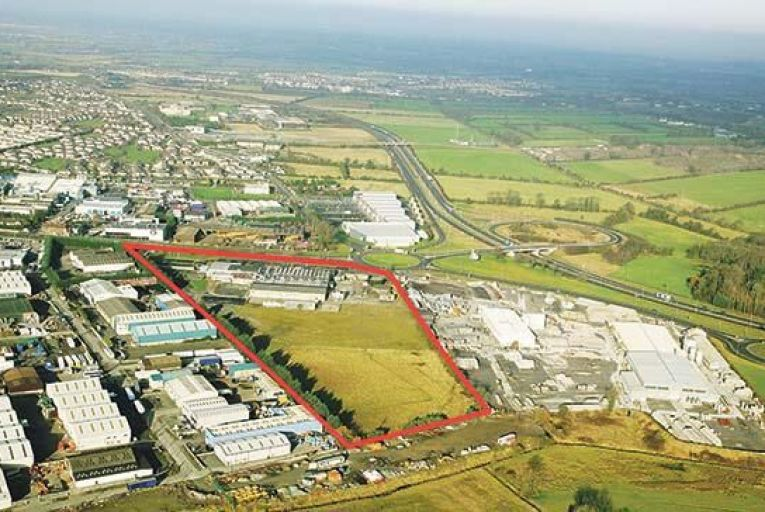 A site outside Naas town has vehicular access directly onto the Dublin Road