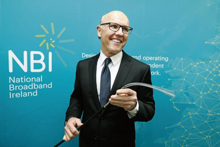 David McCourt, chairman of National Broadband Ireland: the company has cut its 2021 rollout target in half. Picture: Julien Behal