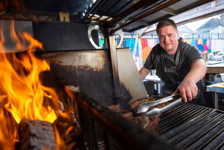 Andy Noonan of Baste BBQ: 'People have been grilling meat over hot coals for as long as there have been people'. Picture: Fergal Phillips