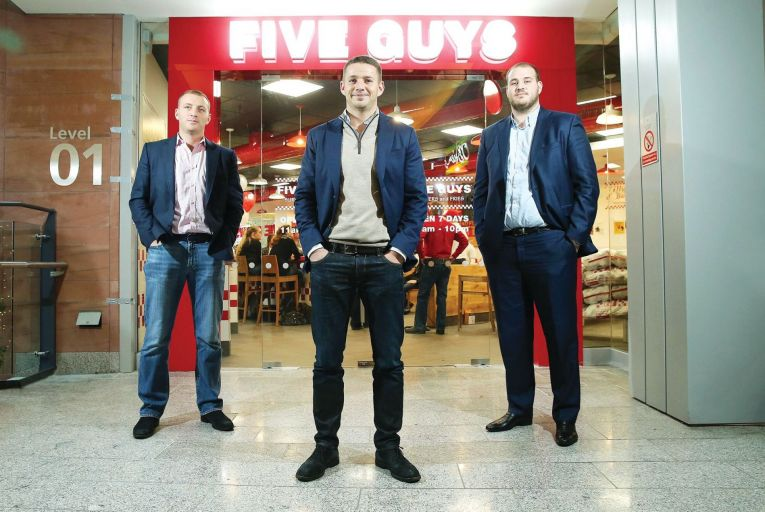 Financial accounts for Five Guys burger chain, run by Dermot Desmond's sons Brett, Ross and Derry, show the impact of the pandemic on their outlets in Dublin and Belfast. Picture: Kevin Boyes/Press Eye