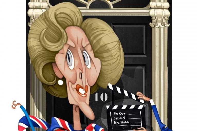 Gillian Anderson is winning acclaim for her portrayal of Margaret Thatcher in The Crown. Illustration: Peter Hanan