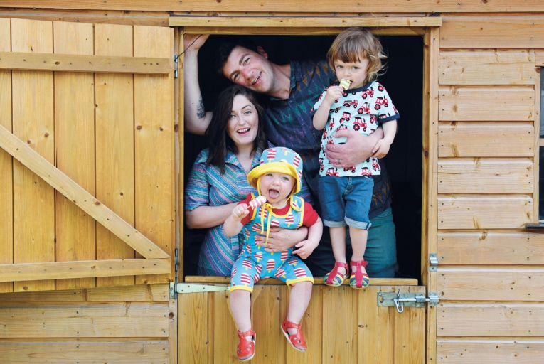 Louise Ross, her husband Joe and children Betty, 14 months, and Jimmy, two: 'There aren't enough community creches available.' Picture:  Bryan Meade