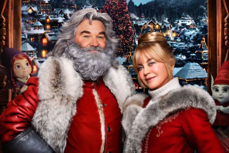 Kurt Russell and Goldie Hawn in The Christmas Chronicles part two