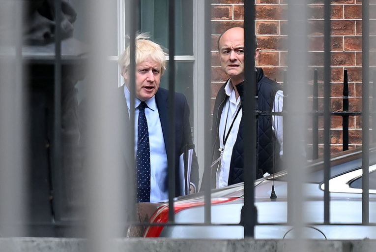 Boris Johnson, the British prime minister and his former special adviser Dominic Cummings who spent last week casting his old boss as bungling, indecisive and narcissistic. Picture: Getty