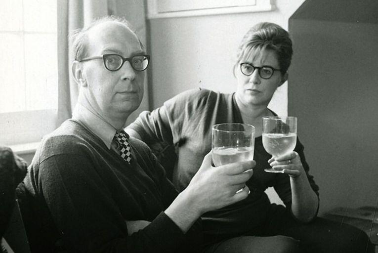 Philip Larkin and Monica Jones. Picture: estate of Philip Larkin