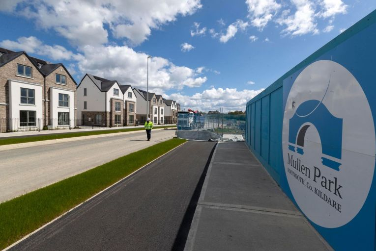 Mullen Park housing estate: controversy erupted over an investment fund buying up most of the Maynooth estate, denying local house buyers the chance to buy a property there Pic: Colin Keegan