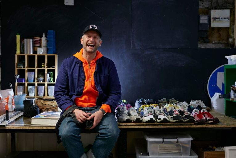 Conor Bereen: 'I've been collecting trainers for years and I now have over 150 pairs.' Photo: Bríd O'Donovan