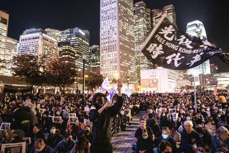 Pro-democracy protesters have had a dramatic impact on the economy in Hong Kong, China . Picture: Chris McGrath/Getty Images