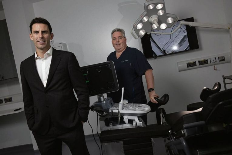 Phillip McGlade and Dr John Kennedy of Thérapie Fertility are courting corporate clients as well as individuals for their new venture. Picture: Fergal Phillips