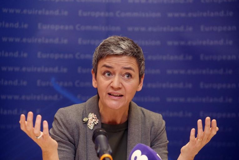 Margrethe Vestager, the EU competition commissioner, placed the investigation on a formal basis and last Friday, the commission announced its preliminary findings. Picture: Andrew Fanning