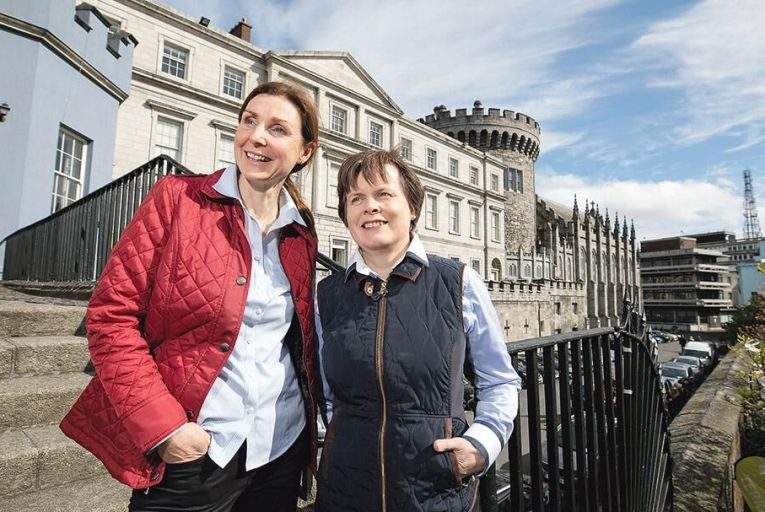 Suzanne Cole and Rachel Kummert, founders of WalkinDublin Picture: Fergal Phillips