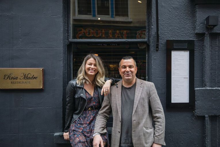 Patrycja Trzaskowska and Luca de Marzio, owners of Rosa Madre: the restaurant, which has been closed due to Covid-19, produces around 800 kilos of pasta every week for stockists around the country