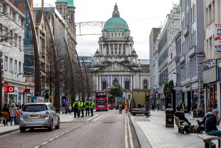 Shopping in Belfast: shops in the North are expected to come out of lockdown weeks, if not months, ahead of their counterparts in the South Pic: Getty