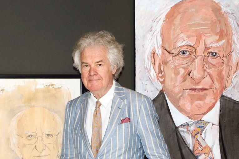 Anthony Palliser at the launch of his exhibition of portraiture in Farmleigh House, DublinKieran Hartnett