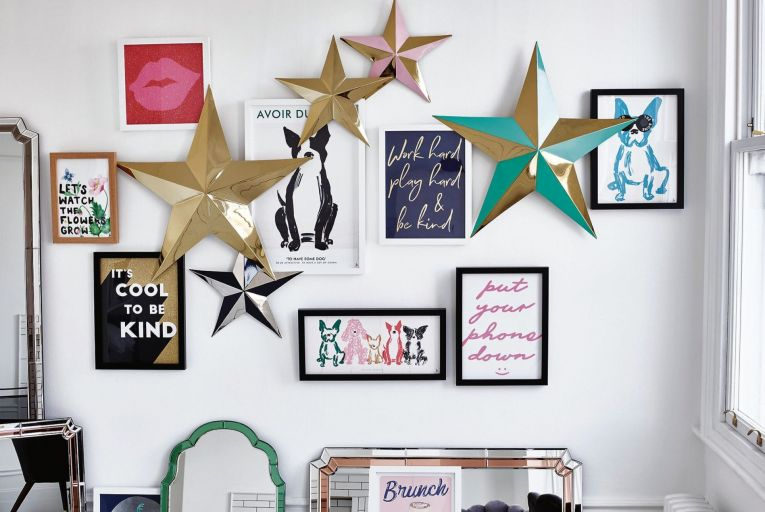 Decorate your wall with these metal hangings from Oliver Bonas, Aurora and the Wall At Collection