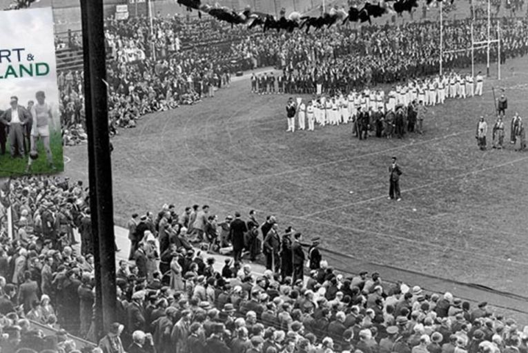 The opening ceremony of the Tailteann Games at Croke Park in Dublin in 1924 Pic: Getty