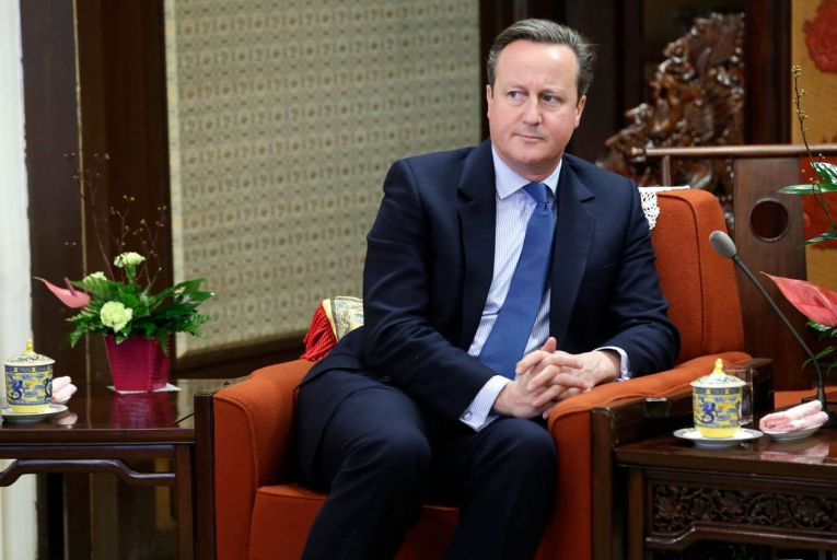 Former British prime minister David Cameron: used his political connections to help the failed company Greensill Capital. Picture: Getty