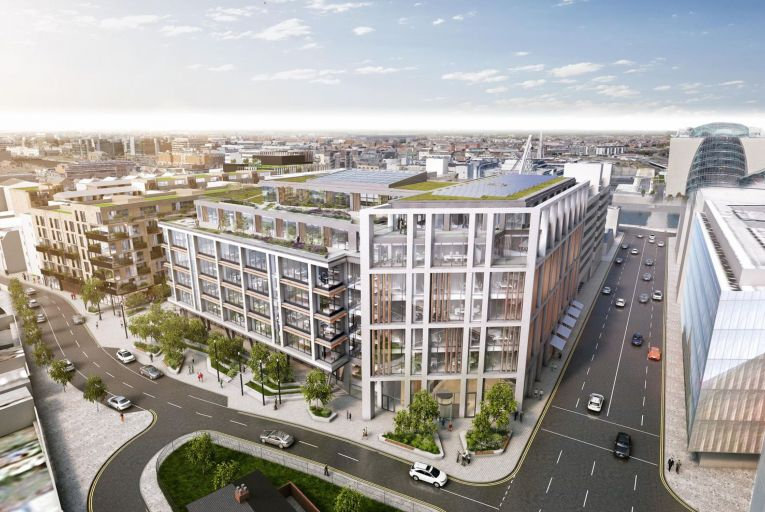 Plans for the Sorting Office in Dublin's South Docklands where TikTok has reserved 19,500 square metres of space