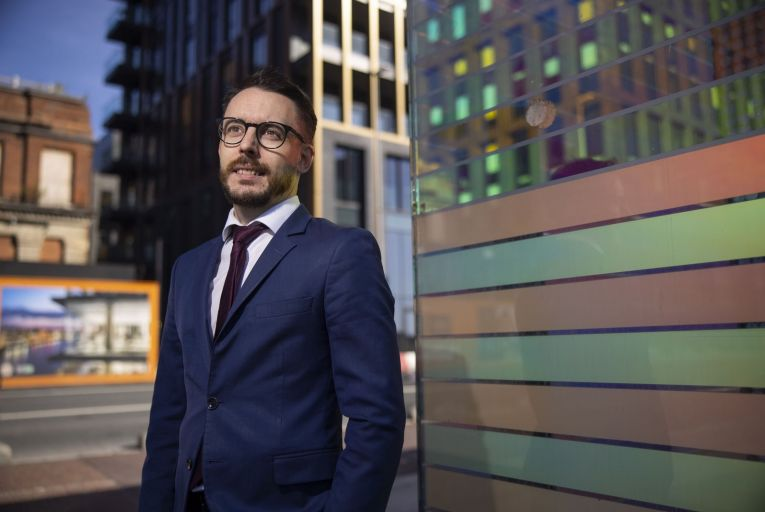 Steven Colgan, solicitor with DWF: 'Once they step through the door, it's up to the individual to forge their own professional destiny.' Picture: Fergal Phillips
