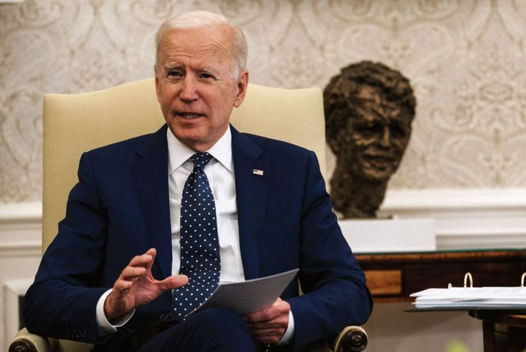 Joe Biden is attempting to implement an ambitious policy agenda in his early months in office Picture: Getty