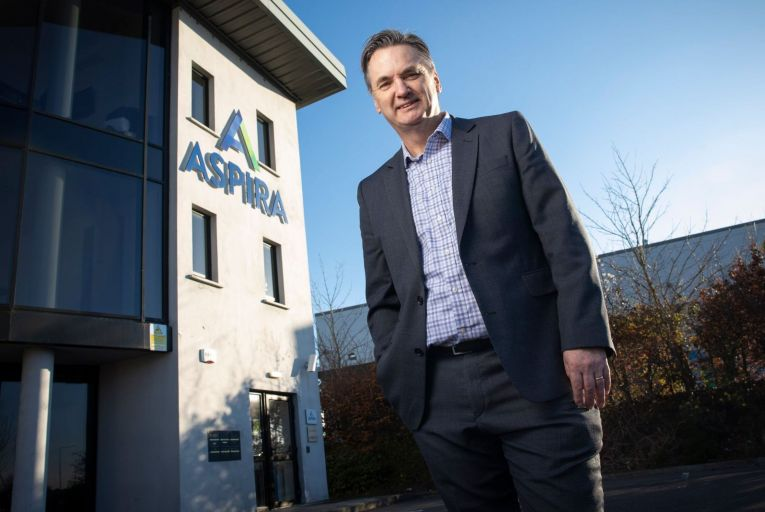 Pat Lucey, co-founder and chief executive of Aspira: 'It's hard to set down concrete plans with the way things are at the moment but we're very keen to keep pushing forward.' Picture: Cathal Noonan