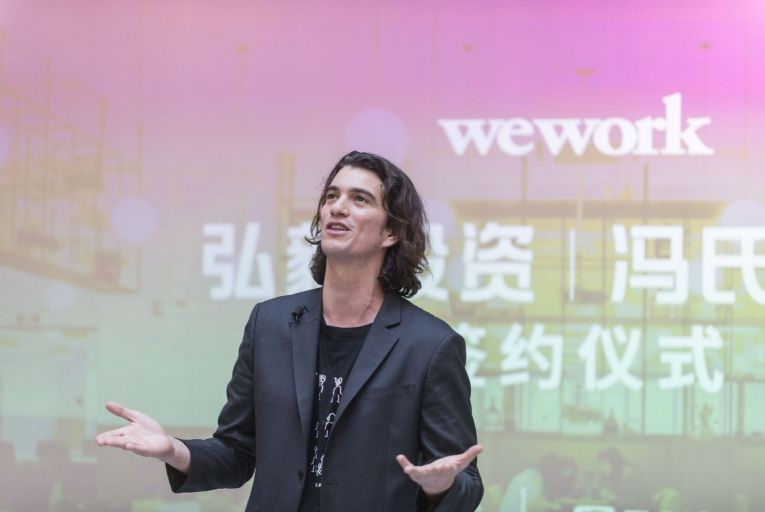 Adam Neumann of WeWork suffered a spectacular fall from grace. Picture: Getty