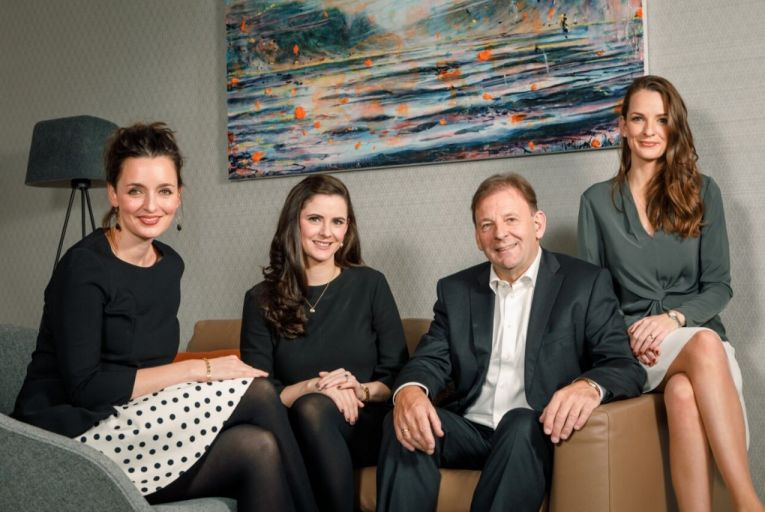 Caption (l-r): Rebecca Kelly, sales director at Glandore, pictured with Fiona Kelly, the company's director of new projects, managing director Michael Kelly, and director Clare Kelly